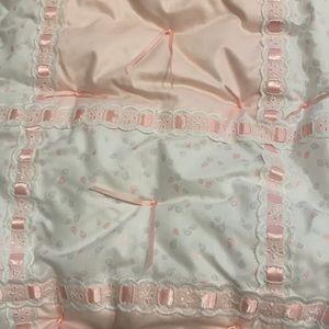 Glenna Jean Crib blanket  matching dust ruffle